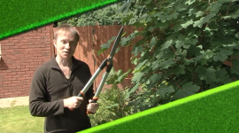 RK Alker Author TV Series I've Lost The Plot product placement with hedge trimmers