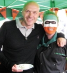 RK Alker Author from Little Green Men Chilli and Simon Rimmer Celebrity Chef