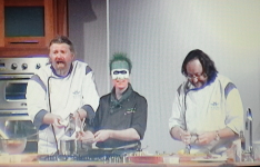 RK Alker Author of Little Green Men with The Hairy Bikers at BBC Good Food Show NEC
