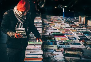 Book Sale at a market by RK Alker Children's Author writer of funny kids books in Lancashire, England, UK